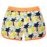 Short de bain avec palmiers printés all-over
