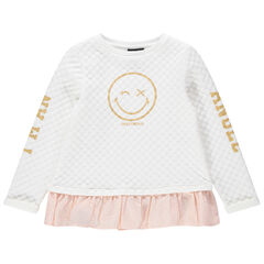 2-in-1 sweatshirt van fantasiemolton met Smiley print