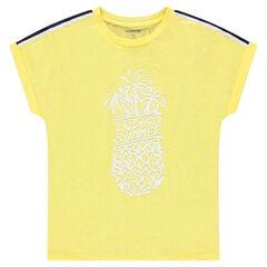 Junior - Tee-shirt manches courtes avec ananas printé