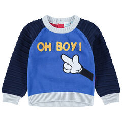 Pull en tricot avec broderies Mickey Disney