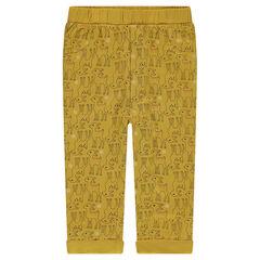 Pantalon en jersey avec faons imprimés all-over