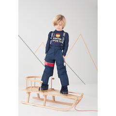 Waterafstotende skibroek met afneembare schouderbanden en zakken met ritssluiting