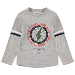 Gemêleerd T-shirt met lange mouwen met print met bliksem