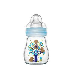 Glazen fles 170 ml - Blauw