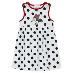 Robe sans manches en jersey à pois all-over avec patch Minnie ©Disney