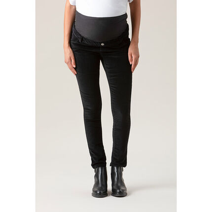 Pantalon de grossesse en velours coupe slim
