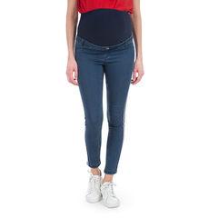 Jeans de grossesse 7/8ème effet used avec bandes appliquées