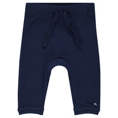 Pantalon en molleton uni