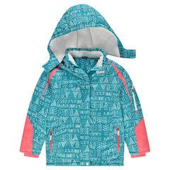 Junior - Ski-jas met fantasieprint en microfleece voering