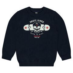 Pull en tricot avec print fantaisie