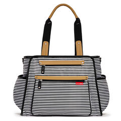 Luiertas Grand central - Stripe black/white