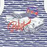 Strandensemble tanktop met strepen bermuda in effen kleur