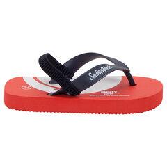 Slippers met ©Smileyprint op de zool en elastisch riempje