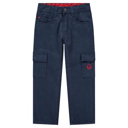 Pantalon en twill doublé micropolaire avec poches