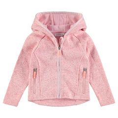 Gilet en tricot chiné avec poches zippées