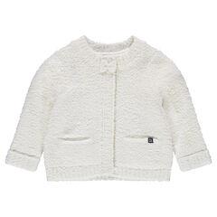 Vest met drukknopen van decoratieve tricot
