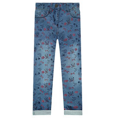 Jegging en molleton effet used ©Disney imprimé Minnie all-over