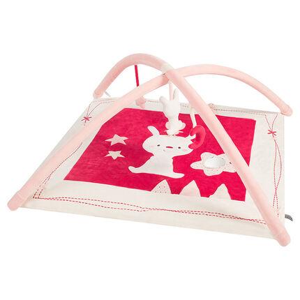Speeltapijt van zachte velours met gewatteerde ophanging