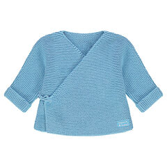 Brassière de naissance en tricot avec étiquette tissée
