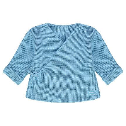 Rompertje van tricot met geweven etiket