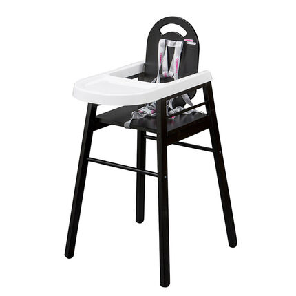 Chaise haute Lili - Noir