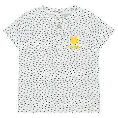 Tee-shirt manches courtes en jersey imprimé all-over avec print ©Disney Winnie l'Ourson