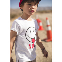 Tee-shirt manches courtes en jersey print ©Smiley