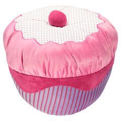 Coussin gâteau en velours