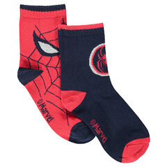 Set met 2 paar matching sokken met jacquardmotief van ©Marvel Spiderman