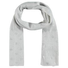 Tulbanddoek in tricot met inzetstuk in zilverkleur hart