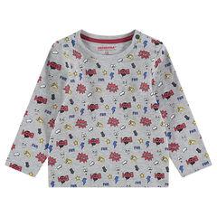 Sous-pull en jersey avec motif esprit bande dessinée all-over