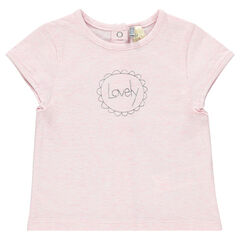 Tee-shirt naissance manches courtes avec inscription fantaisie