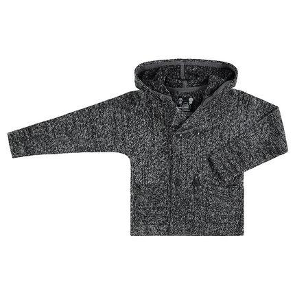 Junior - Vest met kap van gedraaide tricot met zakken