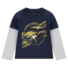 T-shirt met lange mouwen en 2-in-1 effect met ©Transformers-print