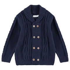 Gilet en tricot avec double boutonnage