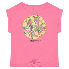 Tee-shirt manches courtes en jersey forme boîte print ©Smiley