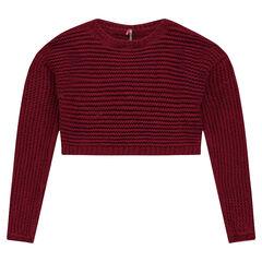 Junior - Korte trui van grof breiwerk