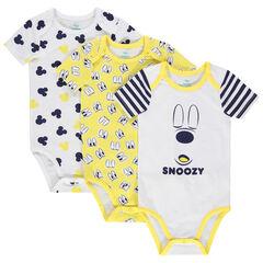 Lot de 3 bodies manches courtes print Mickey Disney