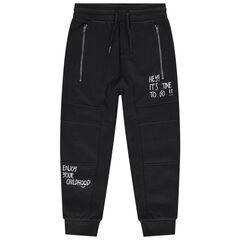 Pantalon de jogging en molleton fantaisie avec zips et messages printés