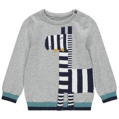 Pull en tricot motif zèbre