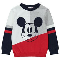 Trui van tricot met Mickey ©Disney van jacquard