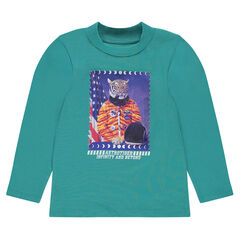 Sous-pull en jersey avec print fantaisie