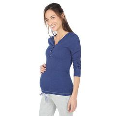 Homewear zwangerschapsshirt met lange mouwen.