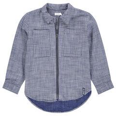 Hemd met lange mouwen en ritssluiting