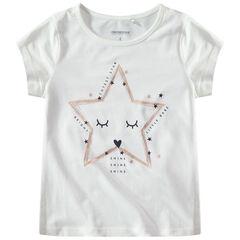 T-shirt manches courtes avec étoiles printée