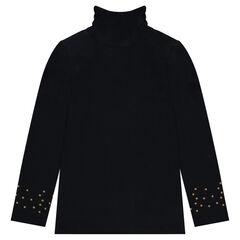 Sous-pull met opstaande, gefronste kraag en sterrenprint