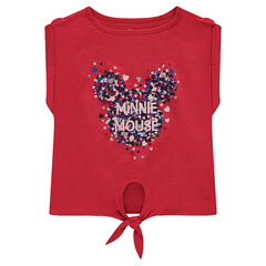Tee-shirt manches courtes à nouer Disney print Minnie