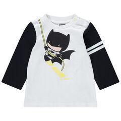 T-shirt met lange mouwen van biokatoen met print van Warner Batman