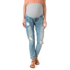 Jeans de grossesses coupe boyfriend avec usures