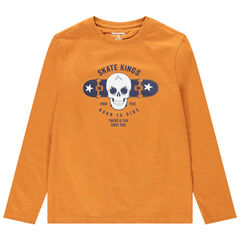 Junior - T-shirt manches longues en jersey avec motif fantaisie printé